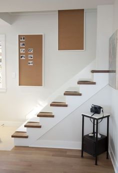 Beyond the Board Game: 5 Creative Party Background Activities - nice stairs! I love the squared treads Polaroid Wall, Mini Polaroid, Polaroid Camera, Party Background, Party Activities, Best Part Of Me, Decoration, Apartment Therapy, Diy Art