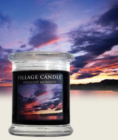 20% Scent of the Month of June www.villagecandle.com  Twilight Moments| New Glass Pillar Collection - Golden Amber, pink pepper and crushed flower petals.