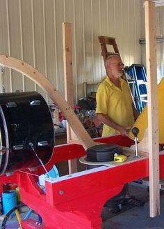 John Abery Sculptor at work on Whack it sculpture at Wrennook Studio My Arts, Bike, Sculpture, Studio, Bicycle, Bicycles, Sculpting, Studios, Sculptures