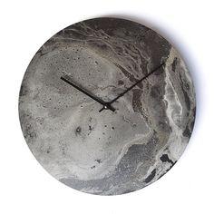 Silver wall clock, big wall clock, modern wall clock, unique wall clock, art clock, wall decor, interior design, unique gift, artwork