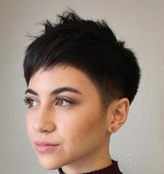 Short Razored Pixie Haircut
