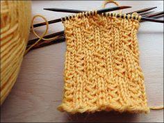 Kleine Zöpfchen Größe 38/39 Muster durch 6 teilbar 6fach-Wolle, Nadel 3,5, 48 Maschen oder 4fach-Wolle, Nadel 2,5, 60 Masch...
