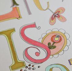 Cute font doodling - Pam Garrison