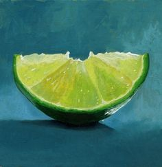 Lime Slice painting