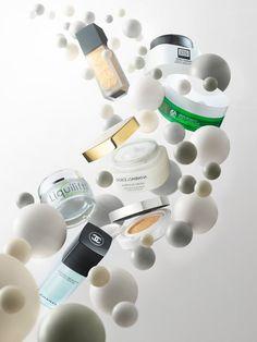 Floating cosmetics still life shoot  #luxurybeauty #stilllife