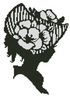 Sarahs Silhouette - cross stitch pattern designed by Janet Morningstar. Category: Women.