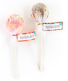 This Rainbow Sherbet & Chocolate Fudge Bath Pop Set is perfect! #zulilyfinds Rainbow Sherbet, Bath, Chocolate Fudge, Desserts, Cake Pops, Bathing, Tailgate Desserts, Cake Pop, Deserts