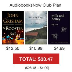 AudiobooksNow No Plan Hillbilly Elegy, John Grisham, Never Stop Learning, James Patterson, Audio Books, Things I Want, The Incredibles, Teaching