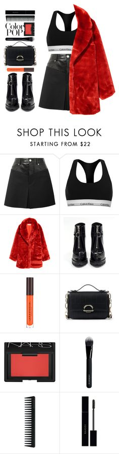 """""""Color Pop! Statement coat"""" by blueberrylexie ❤ liked on Polyvore featuring Helmut Lang, Calvin Klein, H&M, Prada, Sole Society, NARS Cosmetics, Givenchy, GHD, Gucci and statementcoats"""