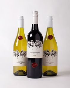 2BC wine labels for Bents Road Winery by Fries Need Mayonnaise.