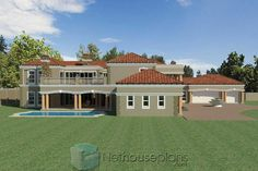 A Luxury 5 Bedroom Double Storey House Plans For Sale House Plans For Sale, Unique House Plans, Modern House Floor Plans, House Plans With Photos, Contemporary House Plans, Luxury House Plans, Dream House Plans, 6 Bedroom House Plans, 4 Bedroom House Designs