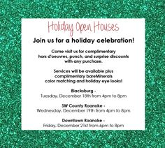 Holiday Open Houses!