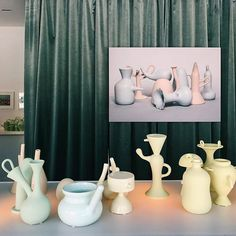 Created over 366 days @matteocibic's VasoNaso project explores the relationship between shape colour and height in a Morandi-style narrative. (: @jessklingelfuss) #salonedelmobile #vasonaso  via WALLPAPER MAGAZINE OFFICIAL INSTAGRAM - Fashion Design Architecture Interiors Art Travel Contemporary Lifestyle