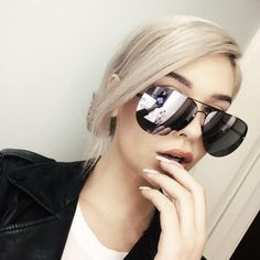 """Gorgeous """"muse"""" aviators designed by beauty blogger Amanda Steele for our fave Aussie eyewear label, Quay Australia! Features delicate metal half-frames and soft paddi"""