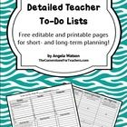 FREE Detailed Teacher To-Do Lists: I'm obsessed with keeping detailed lists, and thought I'd share my personal method for keeping track of everything that needs to be done in the classroom!