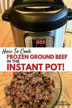 You can cook FROZEN meat in an electric pressure cooker!! Forgot to thaw your frozen ground beef before dinner? Have no fear. Let the Instant Pot do the work of thawing and cooking delicious ground beef for you.