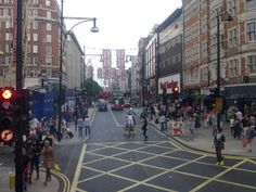Oxford Street, rush hour.