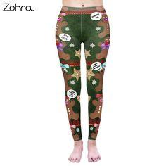 0d6476826719b Zohra Fashion Women Legging Cookies Printing Leggins Workou Legins Slim  Fitness #fashion #clothing #