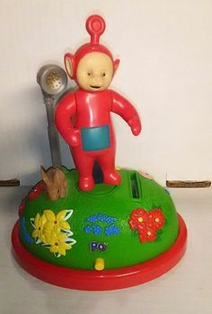 Teletubbies Musical Animated Coin Bank Po Red Electronic Talking Trendmasters #Trendmasters