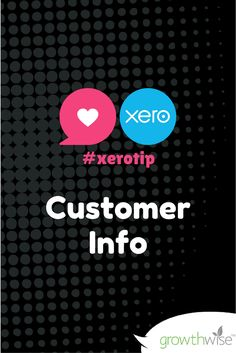 Check out our latest #xerotip - Getting the most of your your Xero Customer list! http://www.growthwise.com.au/news/2016/xero-tip-extracting-customer-information-out-of-xero