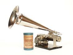 "1905 Columbia Q Cylinder Phonograph w/10"" Nickel Horn * Near Mint * Works Great"
