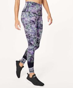 bf81f16029341d Lululemon Wunder Under Hi-Rise Tight (Nulux - Vivid Vision Wunder Under  Pant Hi-rise Multi Black - lulu fanatics