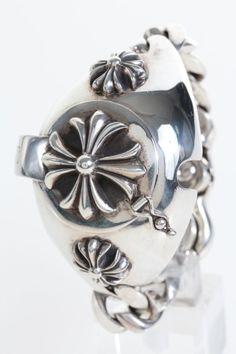 CHROME HEARTS Watchband。ケース蓋・クリップ等の各パーツにCHプラスがデザイン。 http://brandcollect.com/item/CHROME_HEARTS/120000787998.html