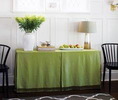 DIY Fabric Table Skirt - House & Home