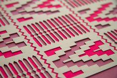 Kente Laser Cut Artwork Leif