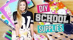 DIY Back to School Supplies: Binders, Pencil Case & Organization   LaurDIY - YouTube