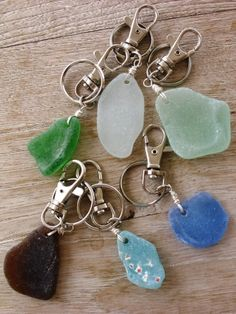 seaglass key rings