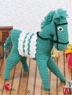 Crocheted Horse - free crochet pattern.