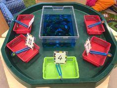 EYFS Maths  fish tank counting finger gym #adultmath Maths Eyfs, Eyfs Classroom, Eyfs Activities, Nursery Activities, Preschool Activities, Gruffalo Activities, Shape Activities, Physical Activities, Year 1 Maths