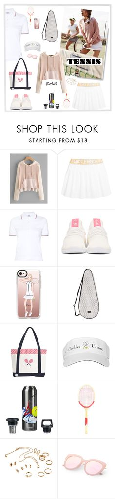 """Tennis look"" by vivien-la ❤ liked on Polyvore featuring Fendi, Thom Browne, adidas Originals, Casetify, Dagmar, Headsweats and Menu"