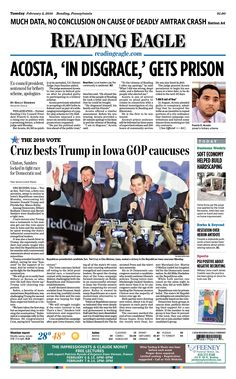 Today's front page, Feb. 2, 2016.