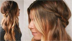 Peinado rápido y moderno para melenas desenfadadas