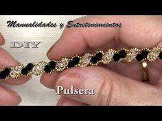 Beaded Bracelets Tutorial, Handmade Bracelets, Handmade Jewelry, Beading Patterns Free, Beading Tutorials, Crystal Jewelry, Beaded Jewelry, Seed Bead Projects, Jewelry Crafts