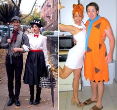 Funny DIY Couples Costumes   Mary Poppins and Bert via Keiko Lynn . Wilma and Fred via C.R.A.F.T.