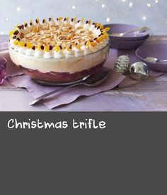 Mary's easy Christmas trifle can be made up to 2 days ahead and decorated with whipped cream just before serving. Christmas Trifle, Christmas Recipes, Recipes With Whipping Cream, Cream Recipes, Making Whipped Cream, Trifle Recipe, Creamed Eggs, Dried Apricots, Macaroons