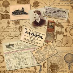 Victorian collage - Printable Paper Background - check out her site for more papers and digital stamps!