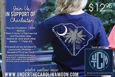 #prayforcharleston t-shirts at www.underthecarolinamoon.com