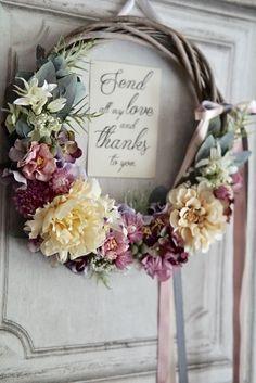 ka527su様専用… 'rustic wedding' wreath bouquet:アンティーククリームのリースブーケ