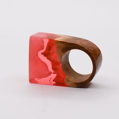 Resin Wood Ring. Wood and Resin Ring. One of a kind by artfulresin