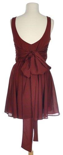 Box Seats Dress in Burgundy - $42