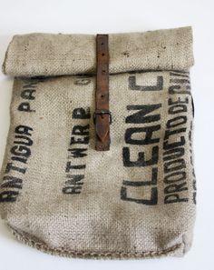 coffee bag backpack by kroepie on Etsy, $60.00