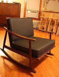 MID CENTURY MODERN ITALIAN ROCKING CHAIR   eBayVintage Mid Century Teak and Woven Hemp Folding Chairs   Teak  . Mid Century Modern Chairs Ebay. Home Design Ideas