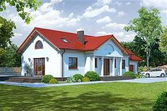 Projekt domu Chmielów 94,74 m2 - koszt budowy - EXTRADOM Home Fashion, Mansions, House Styles, Home Decor, Decoration Home, Manor Houses, Room Decor, Villas, Mansion