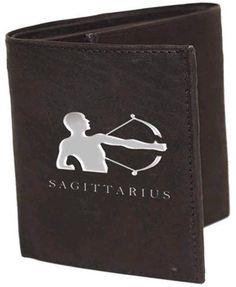 Sagittarius Sign Leather Wallets Sagittarius (Nov 23-Dec 22 ) the jokester, Is all about fun,…