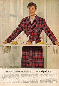 1950 Viyella~Van Baalen Heilbrun Robe~Wedgewood Breakfast Set~1950s Clothing Ad in | eBay