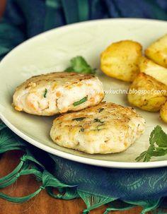 Kotleciki z dorsza | kornik w kuchni Baked Potato, Good Food, Potatoes, Fish, Meat, Chicken, Baking, Dinner, Ethnic Recipes